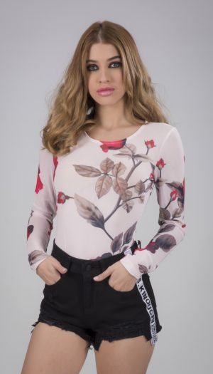 Floral Long Sleeve Bodysuit