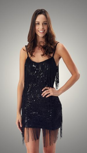 Black Flapper Night out French Dress