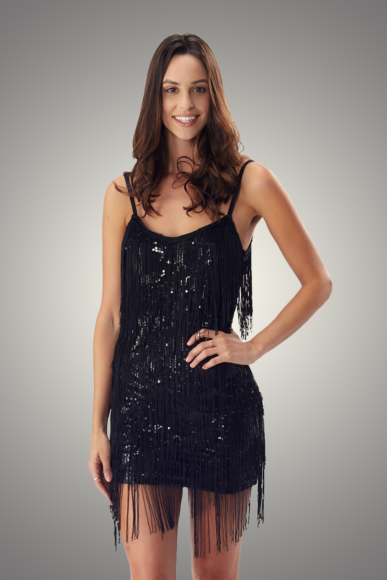 c9e59091d89 Black Flapper Night out French Dress