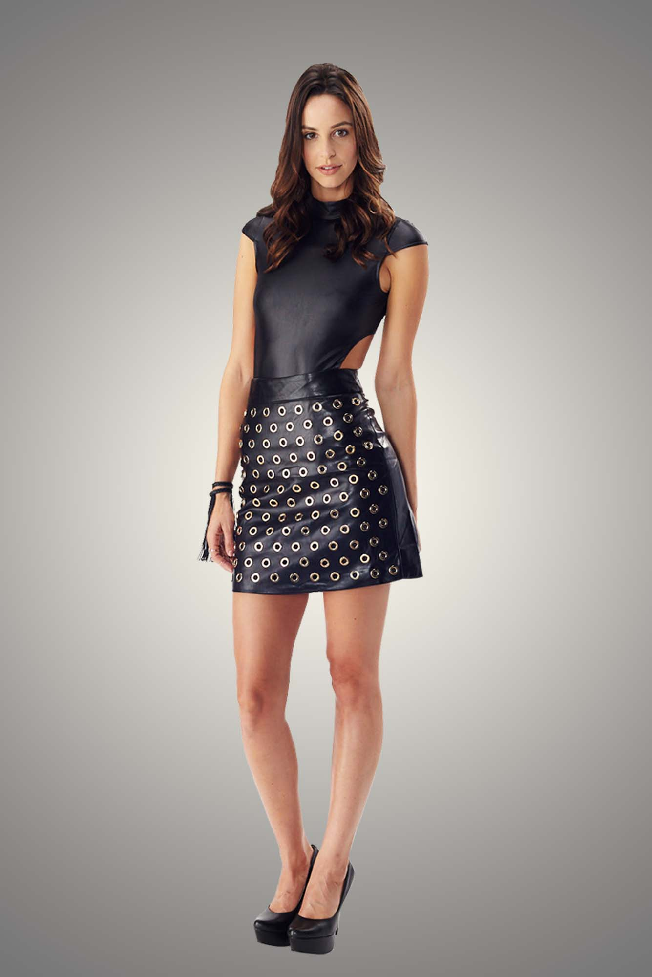 Bold Hoop Faux Leather Skirt  618a811bc