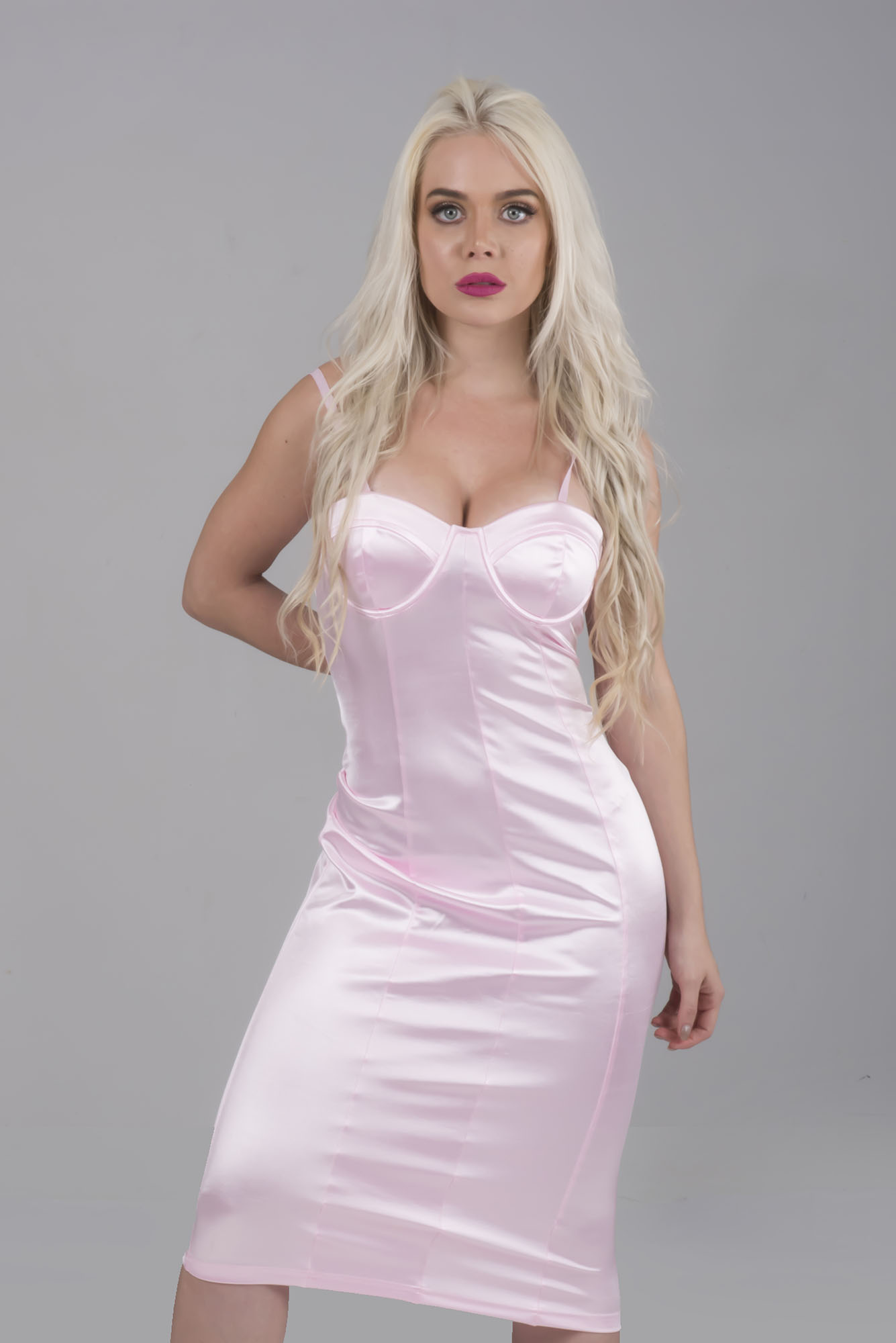 fee26ad48c Metallic Satin Dress