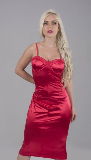 Metallic Satin Dress