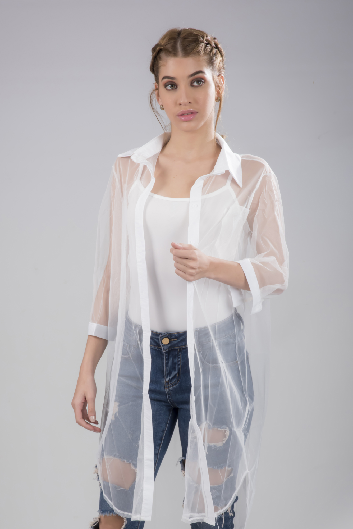 8fd437d69 Sheer Button up Blouse | Fashion Wear | Urhokas