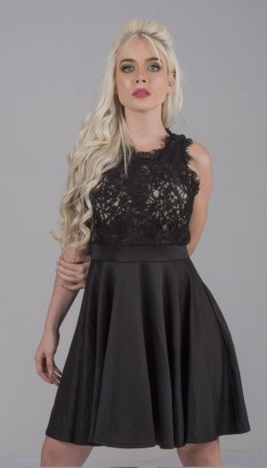 Lace Flare Skater Dress