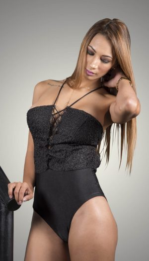 Crisscross Trim Bodysuit