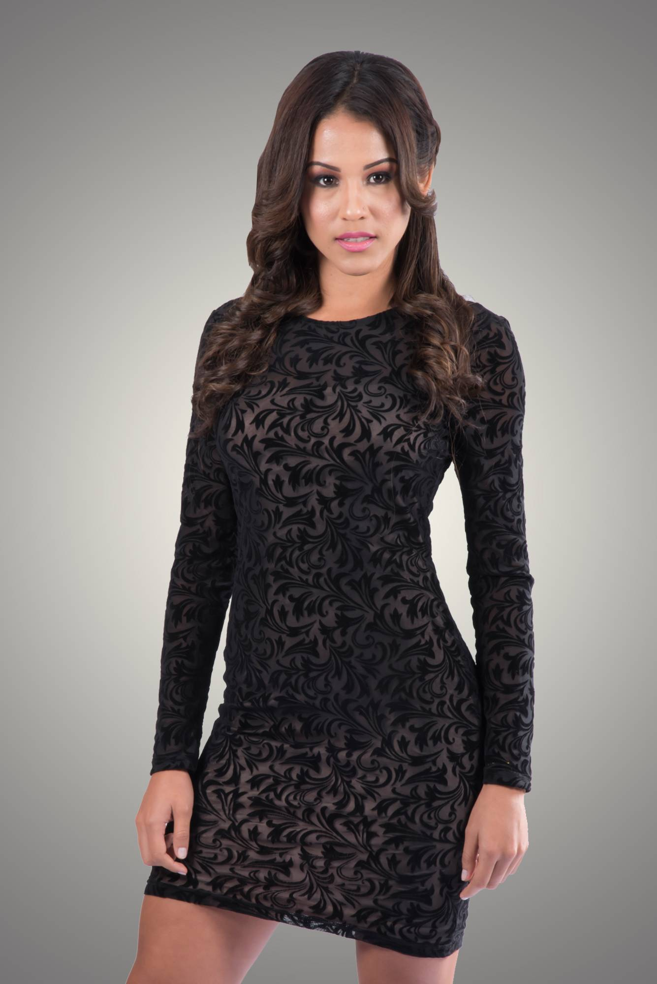 Velvet-Bodycon-Lace-Design-Dress-1-C